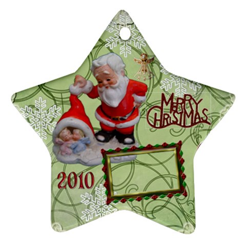 Santa Baby Angels Merry Christmas 2010 Ornament  145 By Ellan   Ornament (star)   Xe986m85wuml   Www Artscow Com Front