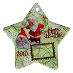 santa baby Angels Merry Christmas 2010 ornament  145 - Ornament (Star)
