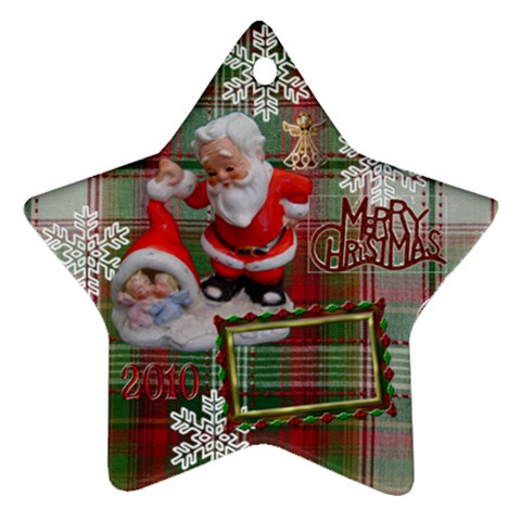 Santa Baby Angels Merry Christmas 2010 Ornament  146 By Ellan   Ornament (star)   Fw82mdg27djs   Www Artscow Com Front