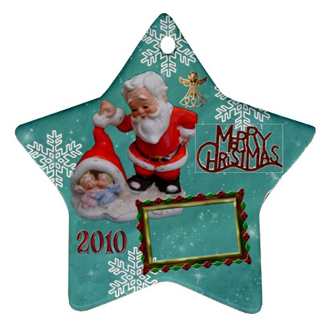 Santa Baby Angels Merry Christmas 2010 Ornament 147 By Ellan   Ornament (star)   A2ztsp897kv5   Www Artscow Com Front