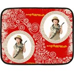 Have yourself a Merry Little Christmas funky red mini fleece - Fleece Blanket (Mini)