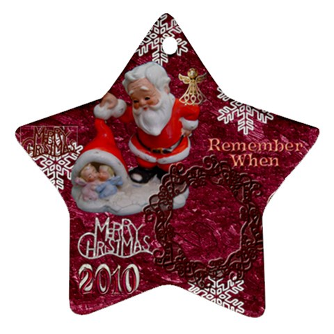 Santa Baby Angels Merry Christmas 2010 Ornament 148 By Ellan   Ornament (star)   1eewz1ekiavo   Www Artscow Com Front