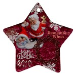 santa baby Angels Merry Christmas 2010 ornament 148 - Ornament (Star)