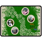Santa Baby Funky Green Gift  Fleece Extra Large - Fleece Blanket (Large)