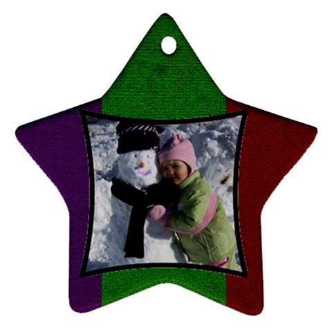 Star Ornament By Amanda Bunn   Ornament (star)   2cz2i37ik4kj   Www Artscow Com Front