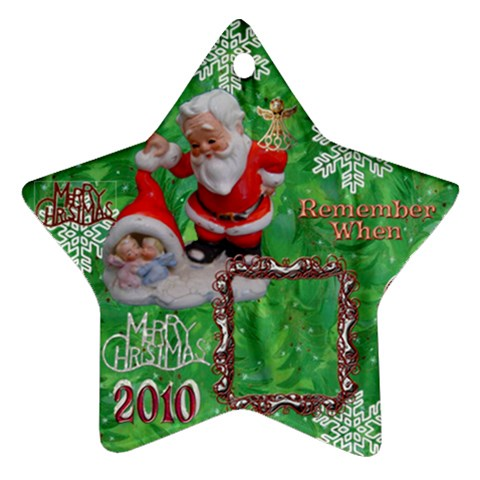 Santa Baby Angels Remember When 2010 Ornament 152 By Ellan   Ornament (star)   P4qm7vtavq7l   Www Artscow Com Front