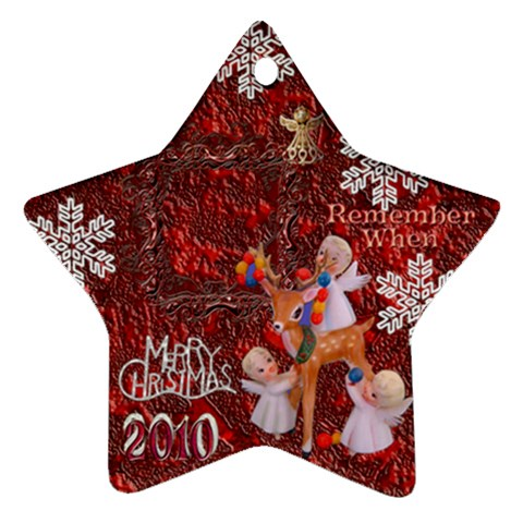 Angels Reindeer Remember When 2010 Ornament 156 By Ellan   Ornament (star)   Yvdrnlu820tn   Www Artscow Com Front