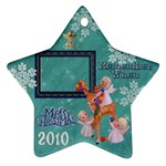 Angels reindeer remember when 2010 ornament 161 - Ornament (Star)