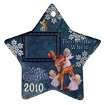 Angels reindeer remember when 2010 ornament 162 - Ornament (Star)