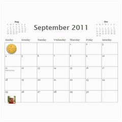 2011 Hepworth Calender By Annette   Wall Calendar 11  X 8 5  (12 Months)   327elfeo7nma   Www Artscow Com Sep 2011