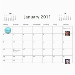 2011 Hepworth Calender By Annette   Wall Calendar 11  X 8 5  (12 Months)   327elfeo7nma   Www Artscow Com Jan 2011