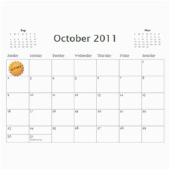 2011 Hepworth Calender By Annette   Wall Calendar 11  X 8 5  (12 Months)   327elfeo7nma   Www Artscow Com Oct 2011
