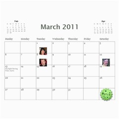 2011 Hepworth Calender By Annette   Wall Calendar 11  X 8 5  (12 Months)   327elfeo7nma   Www Artscow Com Mar 2011