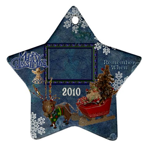 Santa Sleigh Remember When 2010 Ornament 163 By Ellan   Ornament (star)   Uw3uqo6p5u8a   Www Artscow Com Front