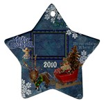 santa sleigh remember when 2010 ornament 163 - Ornament (Star)