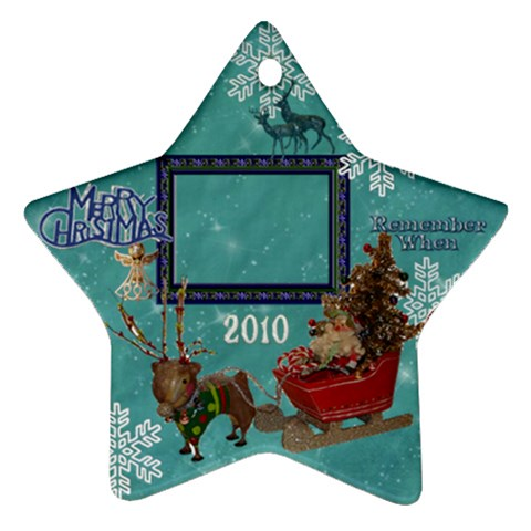 Santa Sleigh Remember When 2010 Ornament 164 By Ellan   Ornament (star)   3yg3acd0ow0b   Www Artscow Com Front