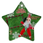 santa remember when 2010 ornament 171 - Ornament (Star)