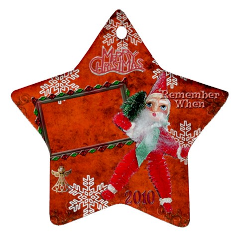 Santa Remember When 2010 Ornament 174 By Ellan   Ornament (star)   Kaqx5ev3gwzh   Www Artscow Com Front