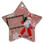 santa remember when 2010 ornament 175 - Ornament (Star)