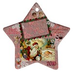 santa remember when 2010 ornament 176 - Ornament (Star)
