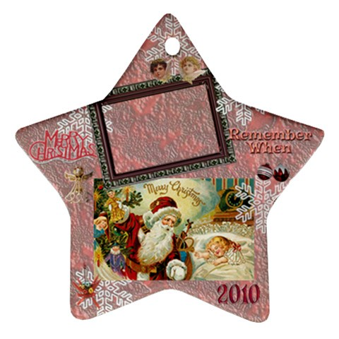 Santa Remember When 2010 Ornament 177 By Ellan   Ornament (star)   Goxfg7m5s1d1   Www Artscow Com Front