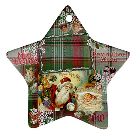 Santa Remember When 2010 Ornament 180 By Ellan   Ornament (star)   Qsvjo5pl9jb5   Www Artscow Com Front