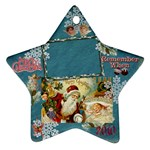santa remember when 2010 ornament 182 - Ornament (Star)
