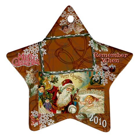 Santa Remember When 2010 Ornament 189 By Ellan   Ornament (star)   Sspgcxvs218w   Www Artscow Com Front