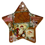 santa remember when 2010 ornament 189 - Ornament (Star)