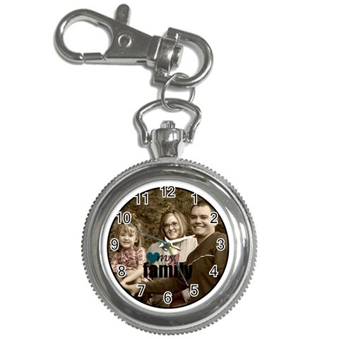 Love My Family Keychain By Amanda Bunn   Key Chain Watch   Xebj6960nngo   Www Artscow Com Front
