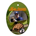 Baseball team - Ornament - Oval Ornament (Two Sides)