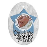 Baby Boy Christmas - Ornament - Oval Ornament (Two Sides)