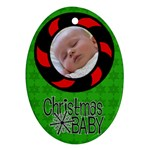 Baby Christmas - Ornament - Oval Ornament (Two Sides)