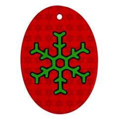 Christmas   Ornament By Carmensita   Oval Ornament (two Sides)   Sf036h61ym9x   Www Artscow Com Back