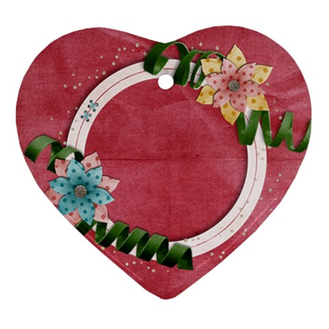 Flowers Ornament By Mikki   Ornament (heart)   Nala9x9tp4vr   Www Artscow Com Front