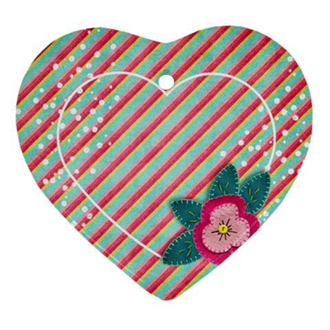 Poinsettia Ornament By Mikki   Ornament (heart)   Xpgftvqmwx43   Www Artscow Com Front