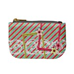 mini coin purse-fun pink strips