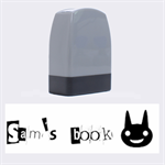 Sam s book - Rubber stamp - Name Stamp
