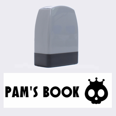 Pam s Book   Rubber Stamp By Carmensita   Name Stamp   30iue41aaip8   Www Artscow Com 1.4 x0.5  Stamp