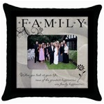 Family Throw Cushion #1 - Throw Pillow Case (Black)