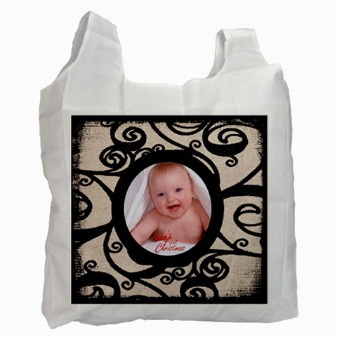 Fantasia Classic Baby s First Christmas Recycle Bag By Catvinnat   Recycle Bag (one Side)   Pszlg7vuo62z   Www Artscow Com Front