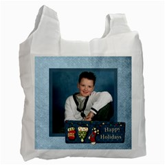 Happy Holidays 2 Sided Recycle Bag By Catvinnat   Recycle Bag (two Side)   22paq14hhsnj   Www Artscow Com Front