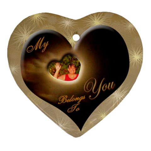 I Heart You Belongs To You  Ornament By Ellan   Ornament (heart)   Y3uvvxdfqelj   Www Artscow Com Front