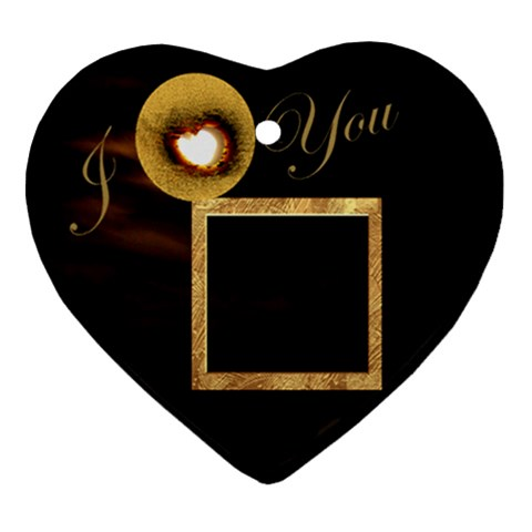 I Heart You Moon Ornament By Ellan   Ornament (heart)   0fn1vubmbegg   Www Artscow Com Front