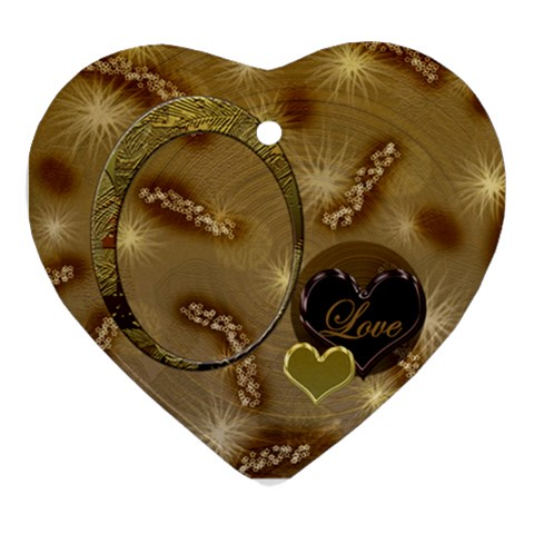 Love Oval1 Ornament By Ellan   Ornament (heart)   Agpvw5cdcd4d   Www Artscow Com Front