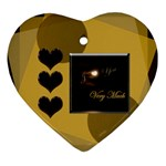 I heart you gold1 Ornament - Ornament (Heart)
