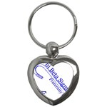 sigma 4_canes_peppermint_singl Key Chain (Heart)