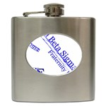 sigma 4_canes_peppermint_singl Hip Flask (6 oz)