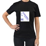 sigma 4_canes_peppermint_singl Women s Black T-Shirt (Two Sides)