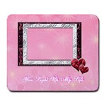 You light up my life4 heart Large Mousepad